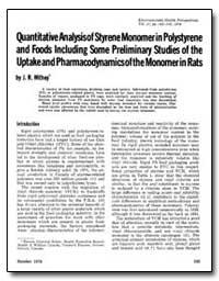Quantitative Analysisof Styrene Monomer ... by Withey, J. R.