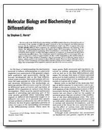 Molecular Biology and Biochemistry of Di... by Harris, Stephen E.
