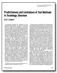 Predictiveness and Limitations of Test M... by Staples, R. E.