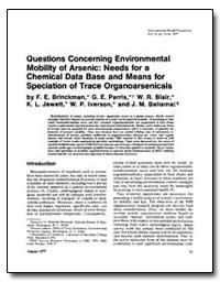 Questions Concerning Environmental Mobil... by Brinckman, F. E.