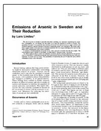 Emissions of Arsenic in Sweden and Their... by Lindau, Lars