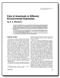 Fate of Arsenicals in Different Environm... by Woolson, E. A.