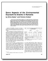 Some Aspects of the Environmental Exposu... by Gabor, Silwia
