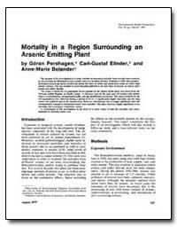 Mortality in a Region Surrounding an Ars... by Pershagen, Goran