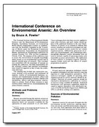 Lnternational Conference on Environmenta... by Fowler, Bruce A.