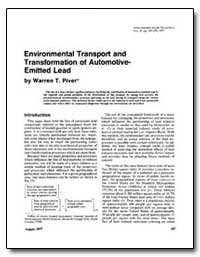 Environmental Transport and Transformati... by Piver, Warren T.