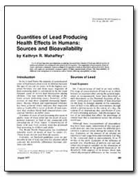 Quantities of Lead Producing Health Effe... by Mahaffey, Kathryn R.