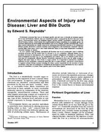 Environmental Aspects of Injury and Dise... by Reynolds, Edward S.