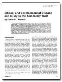 Ethanol and Development of Disease and I... by Krawitt, Edward L.