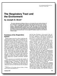 The Respiratory Tract and the Environmen... by Brain, Joseph D.