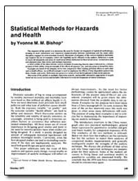 Statistical Methods for Hazards and Heal... by Bishop, Yvonne M. M.