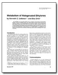 Metabolism of Halogenated Ethylenes by Leibman, Kenneth C.