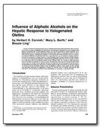 Influence of Aliphatic Alcohols on the H... by Cornish, Herbert H.