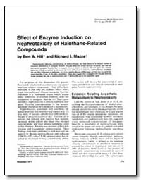 Effect of Enzyme Induction on Nephrotoxi... by Hitt, Ben A.