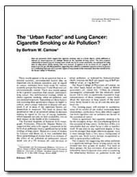 The Urban Factor and Lung Cancer : Cigar... by Carnow, Bertram W.