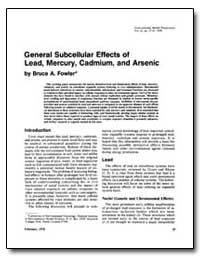 General Subcellular Effects of Lead, Mer... by Fowler, Bruce A.