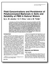 Field Concentrations and Persistence of ... by Jacobs, L. W.