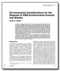 Environmental Considerations for the Dis... by Shah, B. P.