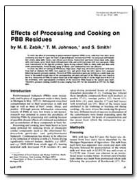 Effects of Processing and Cooking on Pbb... by Zabik, M. E.