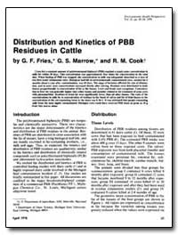 Distribution and Kinetics of Pbb Residue... by Fries, G. F.