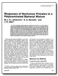 Responses of Nonhuman Primates to a Ol B... by Lambrecht, L. K.