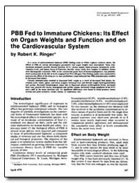Pbb Fed to Immature Chickens : Its Effec... by Ringer, Robert K.