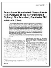 Formation of Brominated Dibenzofurans fr... by Okeefe, Patrick W.