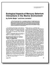 Ecological Aspects of Mercury-Selenium I... by Beijer, Karlin