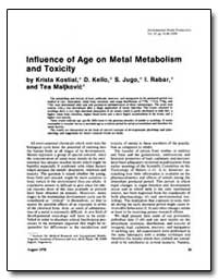 Influence of Age on Metal Metabolism and... by Kostial, Krista