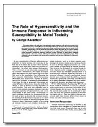 The Role of Hypersensitivity and the Imm... by Kazantzis, George