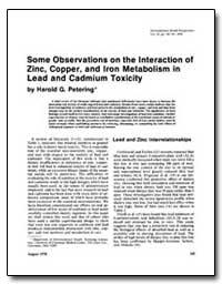 Some Observations on the Interaction of ... by Petering, Harold G.