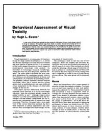 Behavioral Assessment of Visual Toxicity by Evans, Hugh L.