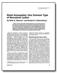 Distal Axonopathy : One Common Type of N... by Spencer, Peter S.