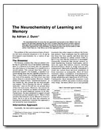The Neurochemistry of Learning and Memor... by Dunn, Adrian J.