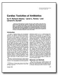 Cardiac Toxicities of Antibiotics by Adams, H. Richard