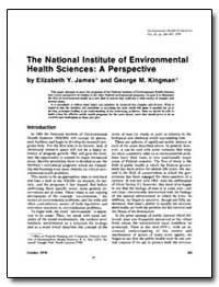The National Lnstitute of Environmental ... by James, Elizabeth Y.