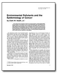 Environmental Pollutants and the Epidemi... by Heath, Clark W.