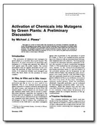 Activation of Chemicals into Mutagens by... by Plewa, Michael J.