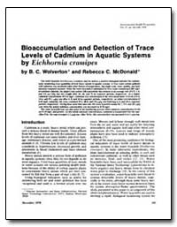 Bioaccumulation and Detection of Trace L... by Wolverton, B. C.