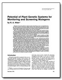 Potential of Plant Genetic Systems for M... by Nilan, R. A.
