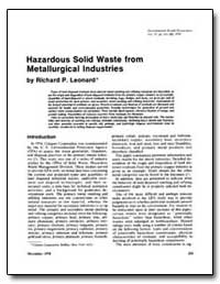Hazardous Solid Waste from Metallurgical... by Leonard, Richard P.