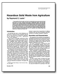 Hazardous Solid Waste from Agriculture by Loehr, Raymond C.