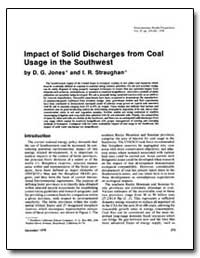 Impact of Solid Discharges from Coal Usa... by Jones, D. G.