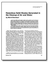 Hazardous Solid Wastes Generated in the ... by Eisenbud, Merril