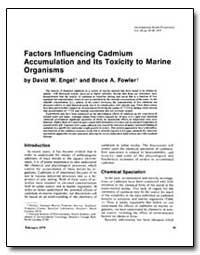 Factors Influencing Cadmium Accumulation... by Engel, David W.
