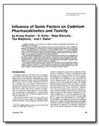 Influence of Some Factors on Cadmium Pha... by Kostial, Krista