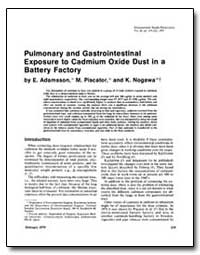 Pulmonary and Gastrointestinal Exposure ... by Adamsson, E.