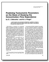 Predicting Toxicometric Parameters on th... by Sidorenko, G. I.