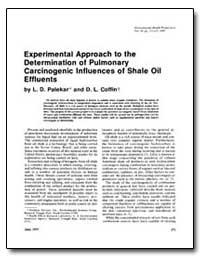 Experimental Approach to the Determinati... by Palekar, Lalita D.
