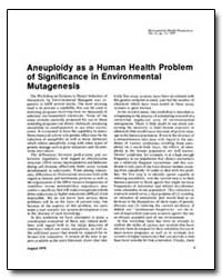 Aneuploidy as a Human Health Problem of ... by United Nations